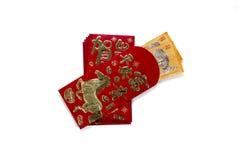Angpau czerwieni koperta Obrazy Royalty Free