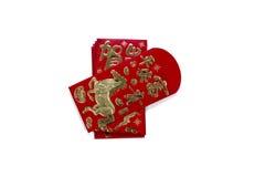 Angpau rött kuvert Arkivbild