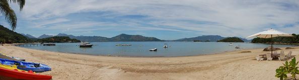 Angra Brazil Panorama. Panorama of beach in Angra Brazil a popular vacation spot of the Rich and Famous ,2 hours outside Rio De Janeiro royalty free stock images