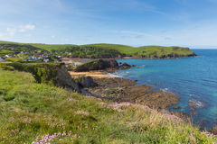 Angra britânica Devon da esperança da costa sul perto de Salcombe no verão Fotografia de Stock Royalty Free