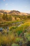 Angra Butler Basin John Day Fossil Beds Oregon da mulher pele-vermelha Foto de Stock Royalty Free