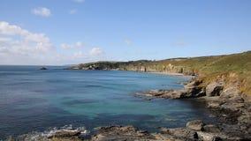 Angra Cornualha Inglaterra de Kenneggy a oeste das areias de Praa vídeos de arquivo