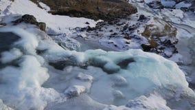 Angra da montanha no close-up do inverno filme