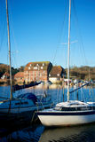 Angra de Ashlett, Hampshire, Reino Unido fotografia de stock royalty free