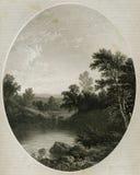 Angra de Esopus perto de Hudson Antique Illustration ilustração stock