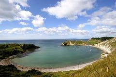 Angra de Lulworth, Dorset fotos de stock