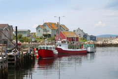 A angra de Peggy, Nova Scotia Foto de Stock