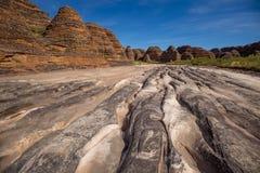 A angra de Piccaninny na estação seca, no Bungle do Bungle varia, Imagens de Stock