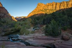 Angra de Verkin do La - Zion National Park Fotografia de Stock Royalty Free