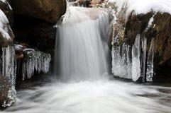 Angra do inverno no parque nacional Sumava Fotografia de Stock
