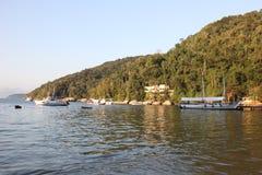 Angra dos重创的Reis和的Ilha是旅游目的地在里约热内卢 免版税库存照片