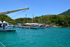 Angra dos reis in Brazil. Popular resort in Brazil, Angra dos reis Stock Photography