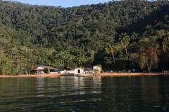 Angra DOS stora Reis och Ilha är turist- destinationer i Rio de Janeiro Arkivfoton
