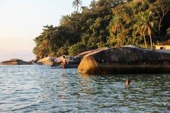 Angra DOS stora Reis och Ilha är turist- destinationer i Rio de Janeiro Arkivbilder