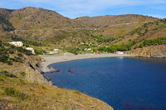 Angra mediterrânea em Roussillon Imagem de Stock