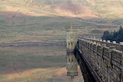 Angram Reservoir Dam Stock Photography