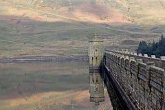 Angram Reservoir Dam Royalty Free Stock Photography