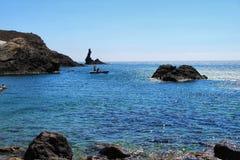 Angras bonitas da reserva natural de Cabo de Gata em Almeria foto de stock royalty free