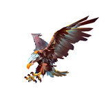 Angreifender Vogeladler auf einem weißen Hintergrund Stock Abbildung