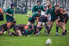 Angriff im Rugby Lizenzfreies Stockbild