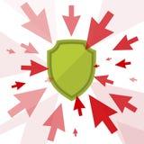 Angriff und Schutz Lizenzfreie Stockfotos