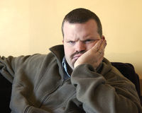 Angry. An angry man watching you with disappointment Stock Photography