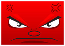 Angry. Illustration of angry face wallpaper created with cartoon style Royalty Free Stock Photos