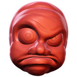Angry. 3D rendered illustration of an angry cartoon head Royalty Free Stock Photography