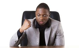 Angry african businessman Stock Images