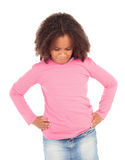 Angry african little girl Stock Photo