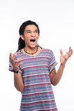 Angry afro american man shouting Royalty Free Stock Photography
