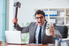 The angry aggressive businessman in the office Royalty Free Stock Photo