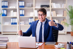 The angry aggressive businessman in the office Stock Images