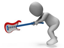Angry Aggressive Guitarist Smashing Guitar Stock Images