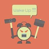 Angry Alarm Clock Royalty Free Stock Image