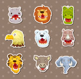 Angry animal stickers Stock Photography