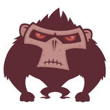 Angry Ape. Vector cartoon illustration of an angry ape with red eyes stock illustration