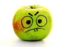 Angry apple Stock Photos