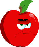 Angry apple Royalty Free Stock Photo