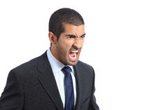 Angry arab business man shouting Royalty Free Stock Image