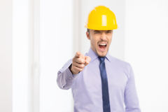 Angry architect. Stock Image