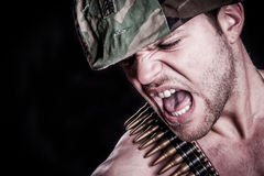 Angry Army Man Stock Photos