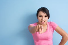 Angry asian woman Stock Images
