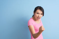 Angry asian woman Royalty Free Stock Image