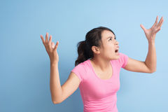 Angry asian woman Royalty Free Stock Photo