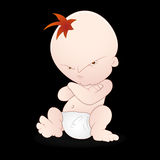 Angry Baby. Lovely Design Art of Angry Baby Vector Illustration royalty free illustration