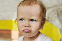 Angry baby Stock Photography