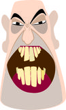 Angry, bald man. Illustration of the head of an angry, bald man Stock Images