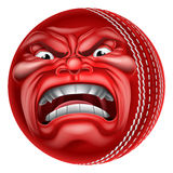 Angry Ball Cricket Sports Cartoon Mascot Stock Photography