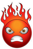 Angry Ball. Very angry ball on fire Royalty Free Stock Photos